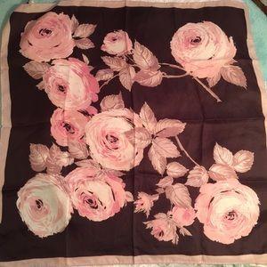 Vintage crepe royal scarf